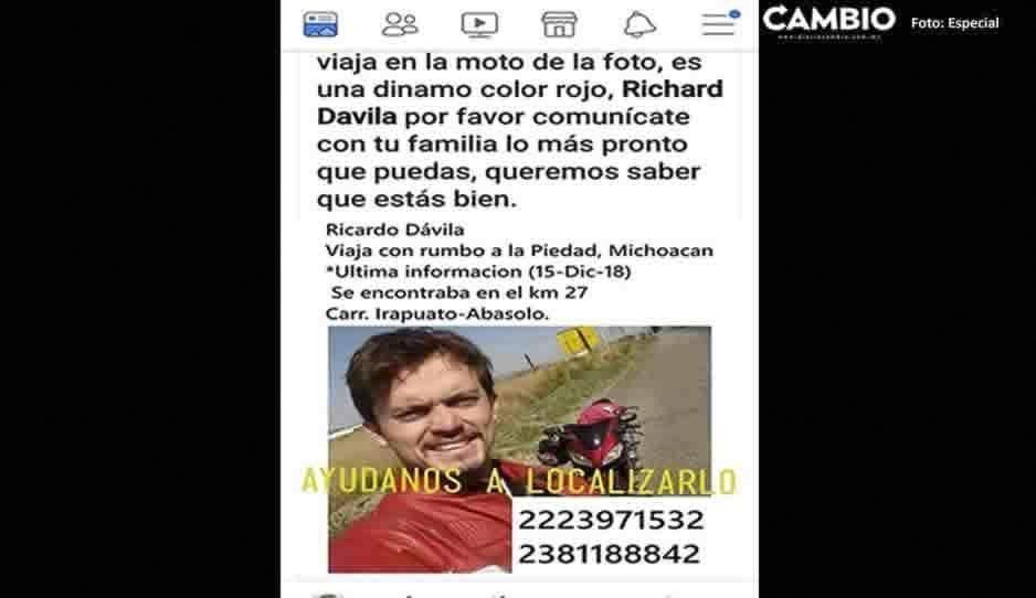Fue asesinado el médico poblano reportado como desaparecido cuando viajaba a Michoacan