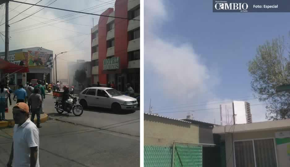 Reportan incendio en terreno baldío de Texmelucan (VIDEO)