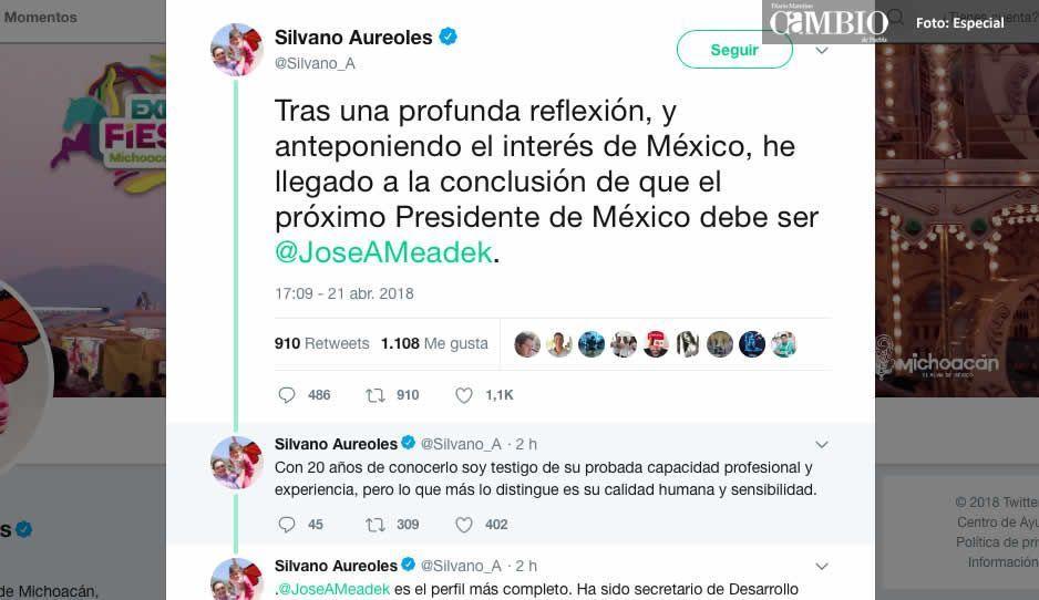 Silvano anuncia respaldo a Meade; José Antonio le responde: no te fallaré