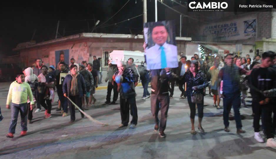 Altepexi recibe restos de Héctor Baltazar, asistente  de Moreno Valle (VIDEO)