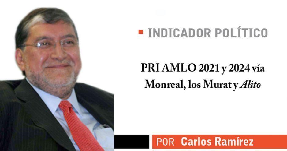 PRI AMLO 2021 y 2024 vía Monreal, los Murat y Alito
