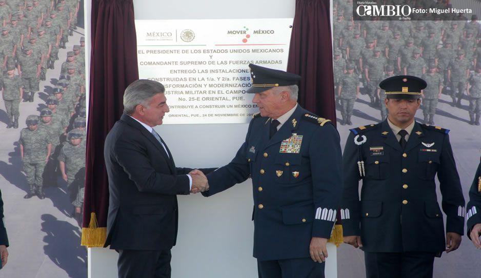 La Industria Militar ya es una realidad en La Célula: inauguran fábrica y una unidad habitacional