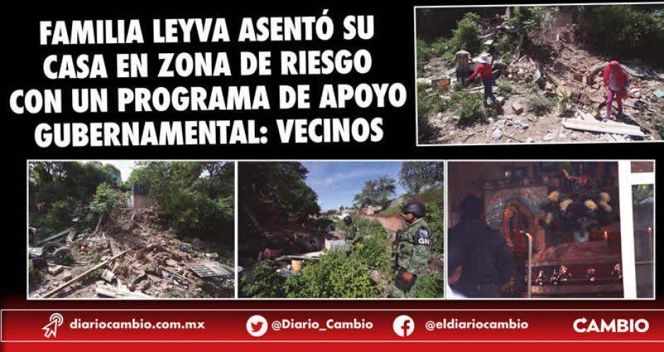 Familia Leyva asentó su casa en zona de riesgo con un programa de apoyo gubernamental: vecinos (FOTOS)