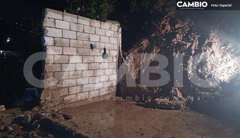 Tras deslave de cerro, presidente de Santo Tomás Chautla exhorta a las autoridades a revisar terrenos de la zona