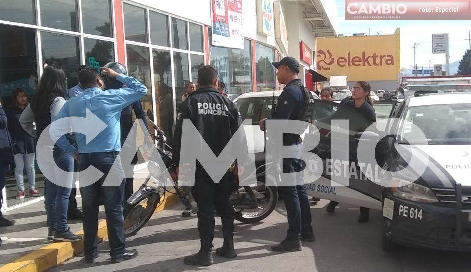 GN y Policía Estatal detienen a sujeto con vehículo robado en Texmelucan