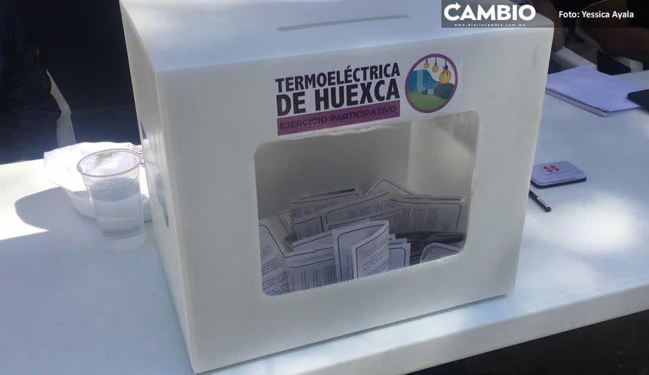 Votan 4 mil 87 poblanos a favor de proyecto de Termoeléctrica Huexca