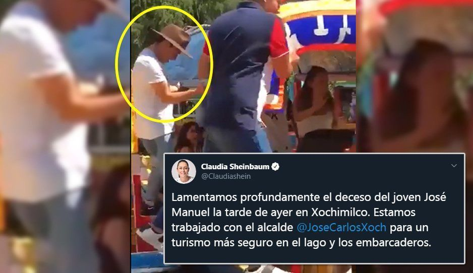 Lamenta Claudia Sheinbaum la muerte del poblano José Manuel al caer de trajinera de Xochimilco