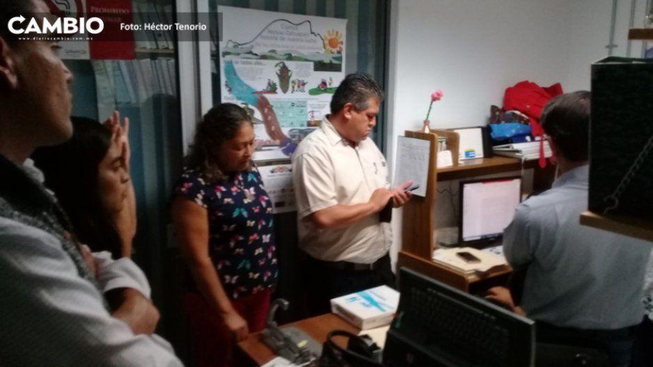 Autoridades municipales de Texmelucan clausuran oficinas del Sosapatex