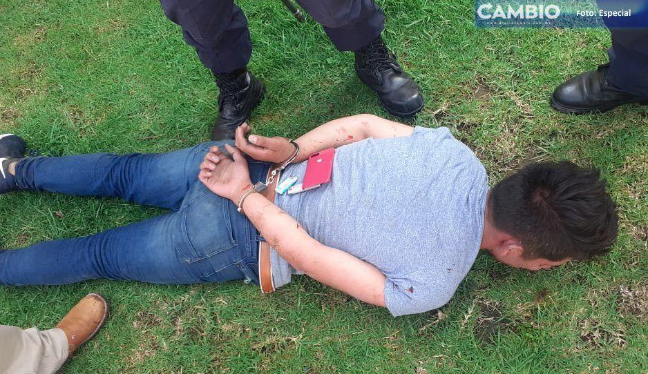 Salvan a presunto ladrón de ser linchado en Tlahuapan