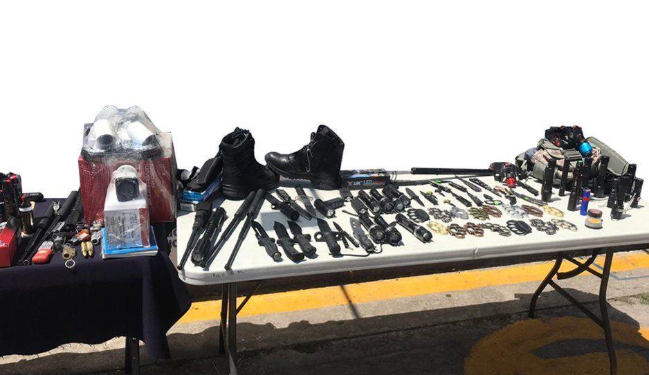 Ejército decomisa bombas y armas de fuego en el Centro Histórico y la CAPU