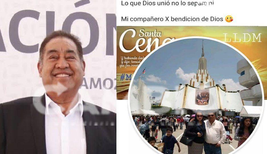 Edil de Amozoc deja todo botado y se va a Guadalajara: asiste a la boda de su sobrino en la Iglesia de la Luz del Mundo
