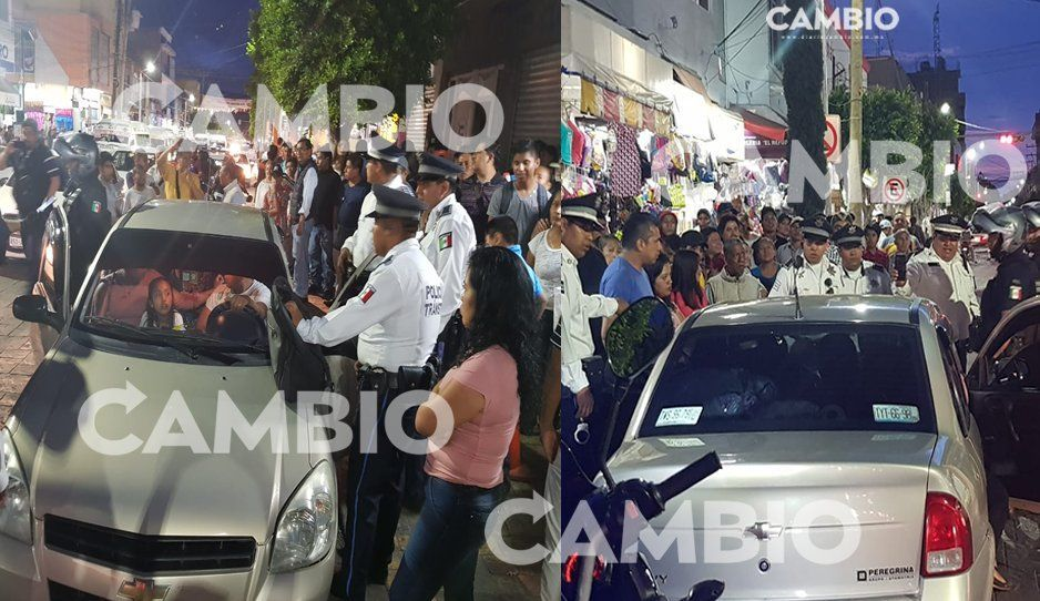 #LadyPolicía para impedir infracción intenta atropellar a oficial de tránsito en Tehuacán (FOTO)