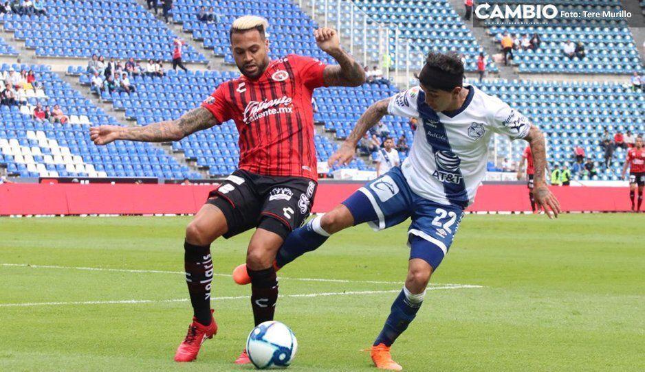 Puebla empata al medio tiempo con Xolos 1-1 (VIDEO)