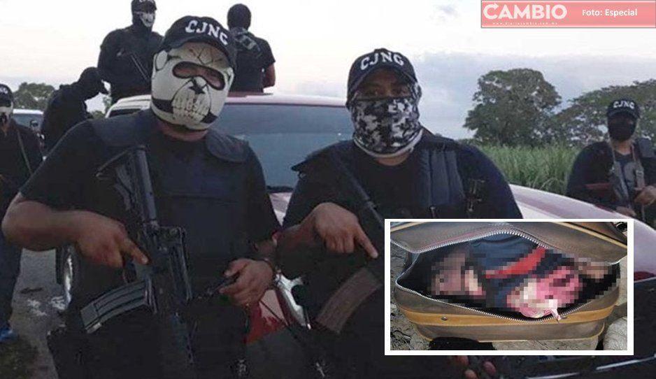 CJNG deja maleta con cuerpo desmembrado y narcomensaje en Atlixco