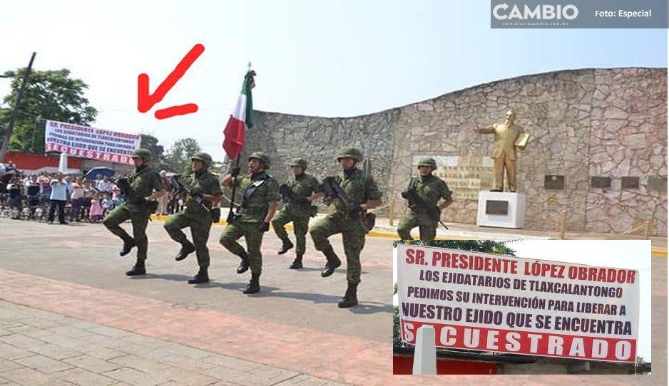 Ejidatarios piden a AMLO la liberación de un ejido en Xicotepec