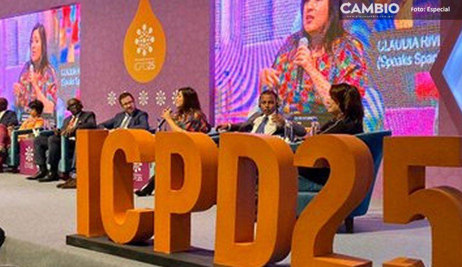 Claudia expone avances de Puebla  capital en la cumbre Nairobi Summit