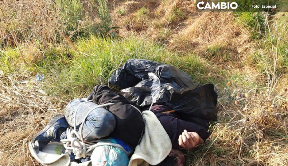 Tiran cadáveres en Coronango; tenían huellas de tortura y estaban embolsados