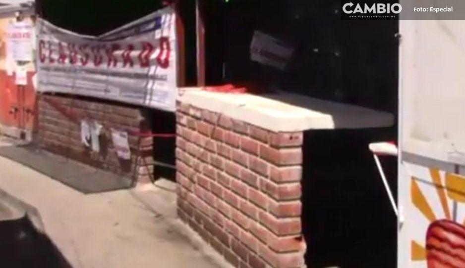Atlixco desaloja a comerciantes  ubicados sobre carretera federal