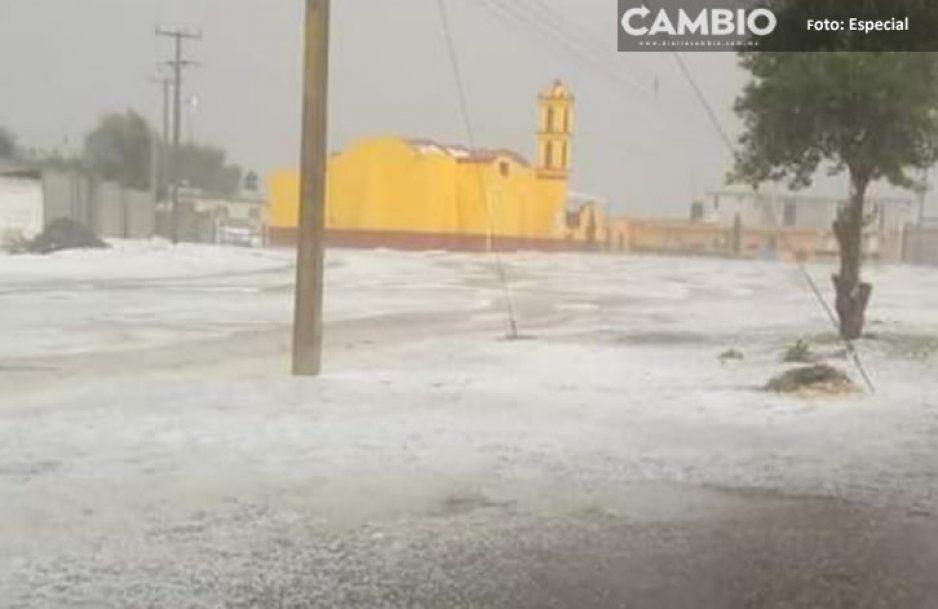 Con granizada amaneció la Sierra Norte de Puebla, Conagua prevé más lluvias para hoy