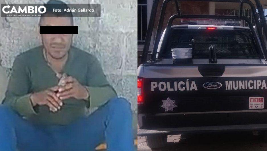 Acusan a intendente de escuela en Tochtepec de intentar golpeara a niña y a su padre con un tubo de metal