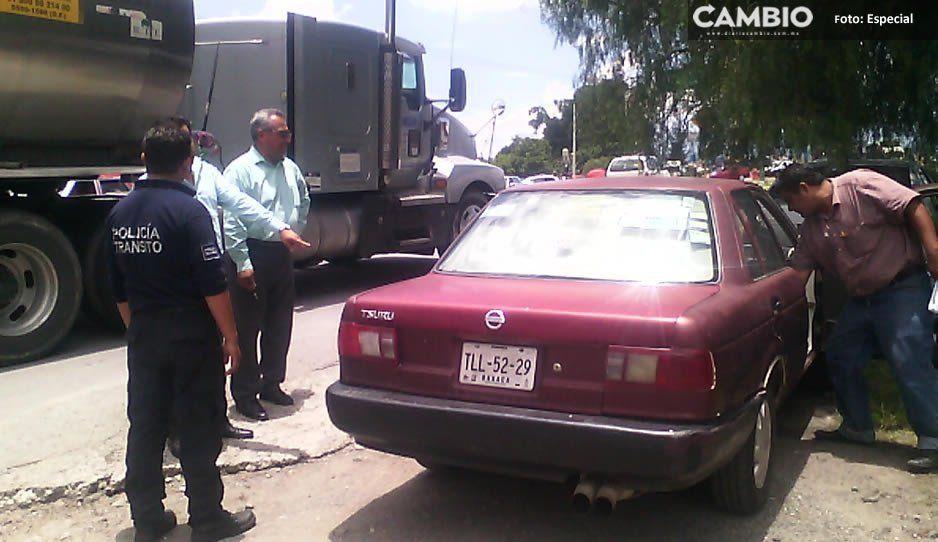 Luego de denunciar corrupción de Tránsito de Texmelucan, conductor obtiene represalias