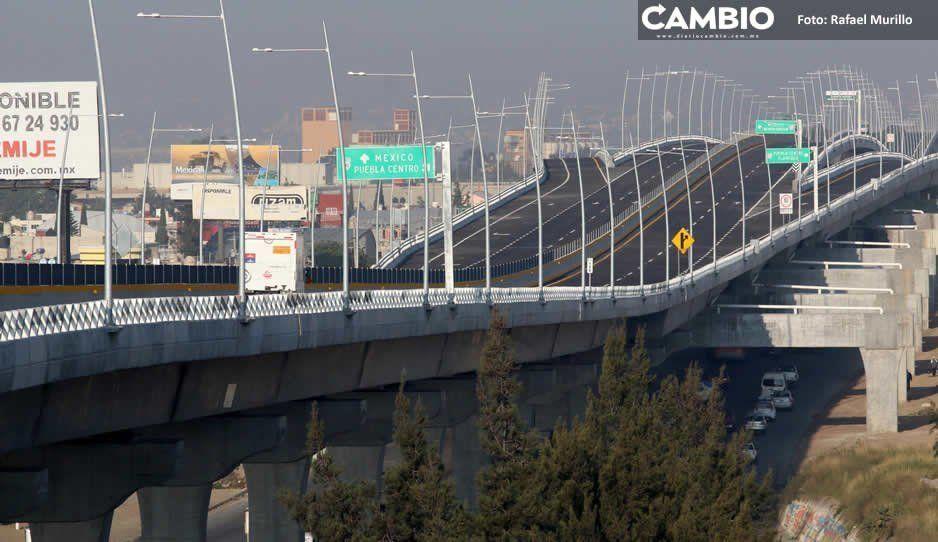 Segundo piso, la autopista con más ingresos; Atlixco, la más transitada