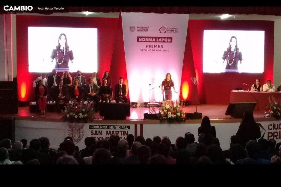 Barbosa respalda el gobierno de Norma Layón en su primer informe
