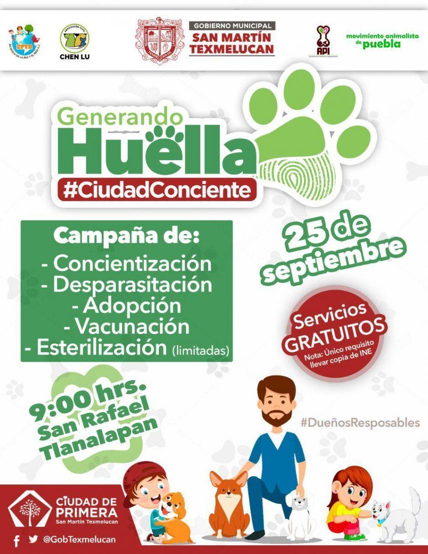 Gobierno de Texmelucan invita a campaña Generando Huella en Tlanalapan este miércoles