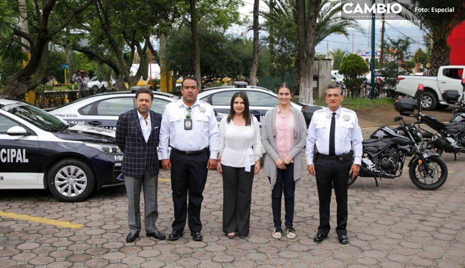 Layón fortalece Seguridad Pública  de Texmelucan con nuevas patrullas