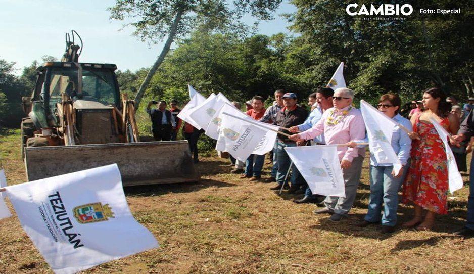 Alcalde Carlos Peredo arranca obras en San Juan Tezongo, Teziutlán