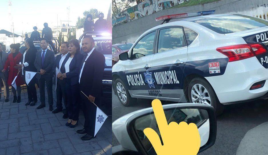 Edil de Amozoc se burla de pobladores, compra patrullas para servir de taxi a sus funcionarios