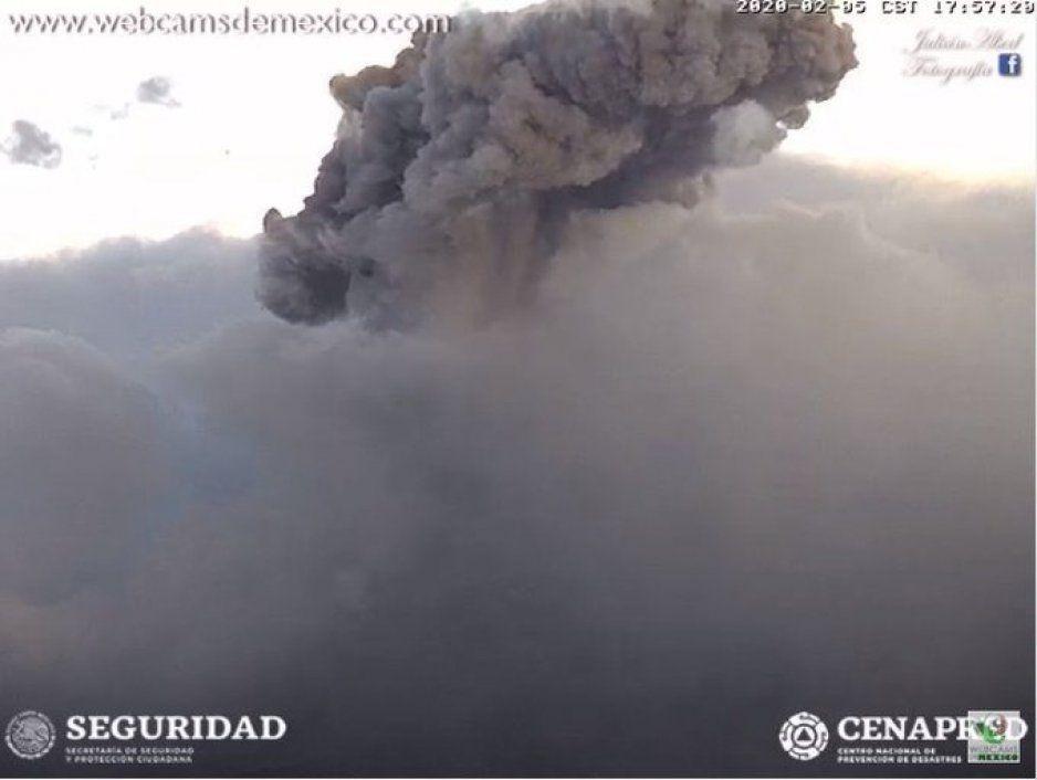¡Despertó Don Goyo!  El Popocatépetl registra fuerte explosión (VIDEO)