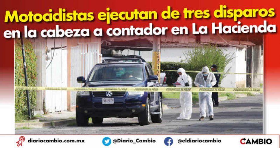 Motociclistas ejecutan de tres disparos en la cabeza a contador en La Hacienda