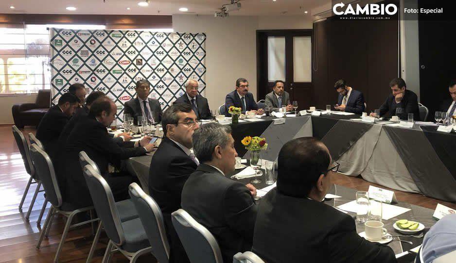 Pacheco Pulido se reúne con CCE: ofrece más seguridad y promoción de inversiones