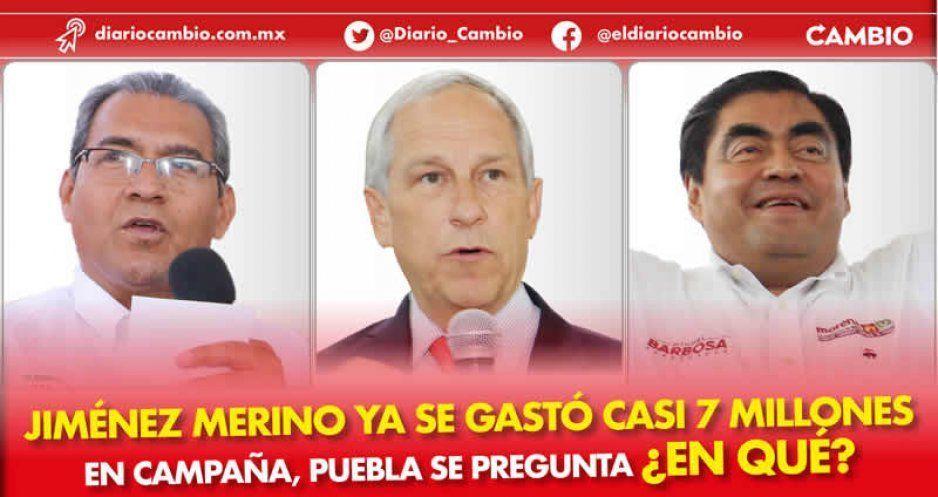 Jiménez Merino ya se gastó casi 7 millones en campaña, Puebla se pregunta ¿en qué?