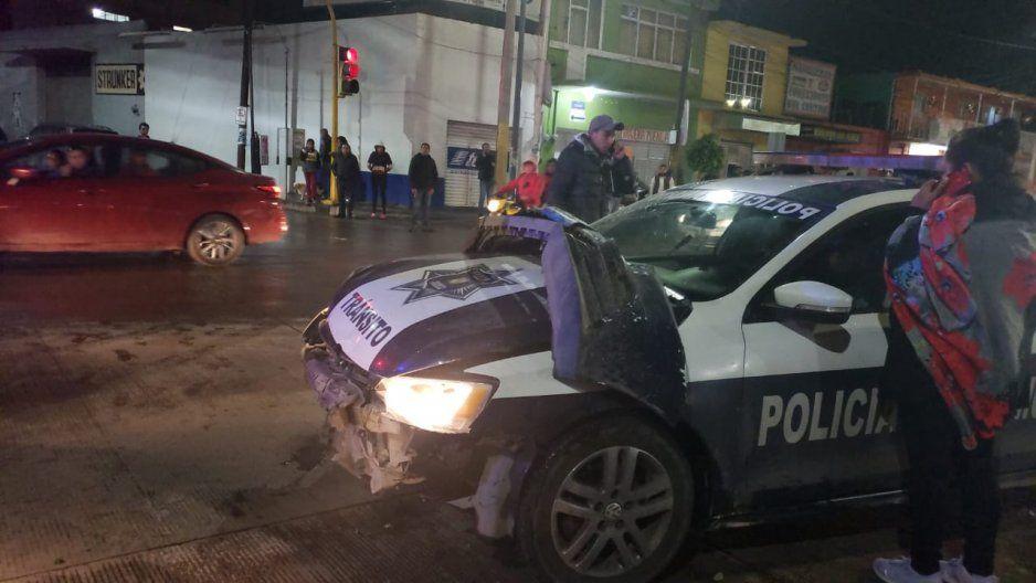 Dirección de Seguridad Pública de Texmelucan asume gastos médicos y técnicos de choque con patrulla