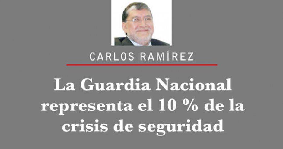 La Guardia Nacional representa el 10 % de la crisis de seguridad