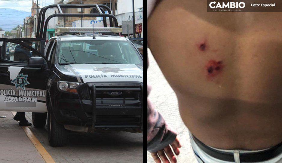Policías de Ajalpan balean a dos jóvenes de 13 y 18 años; iban armados y agredieron a los uniformados