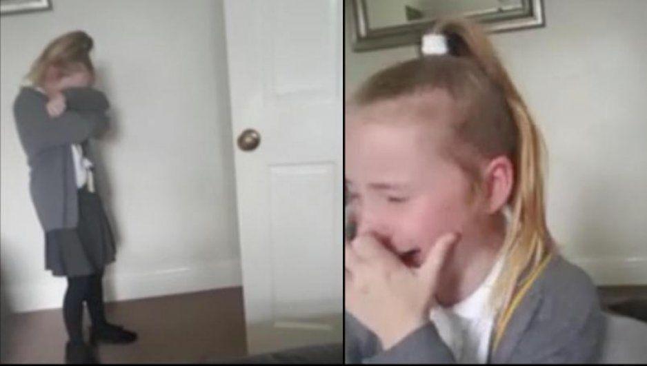 Niñita rompe en llanto al enterarse que su papá supera el cáncer (VIDEO)