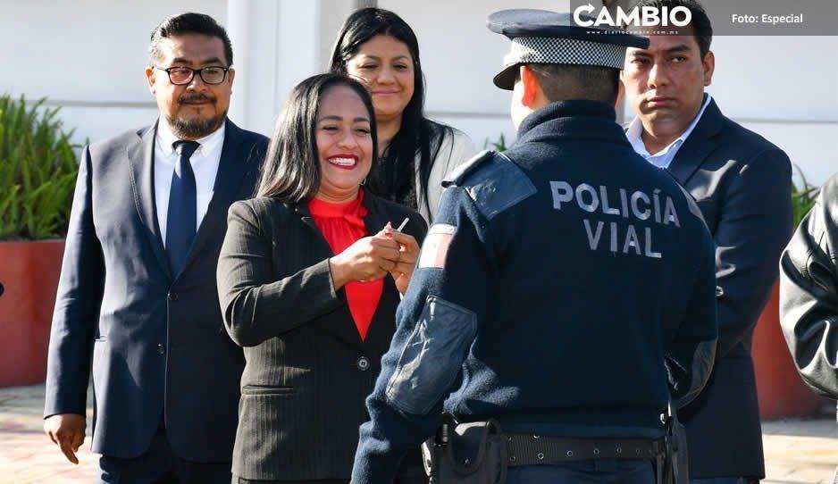 Lupita Daniel entrega nuevas patrullas  para Seguridad Vial de Cuautlancingo