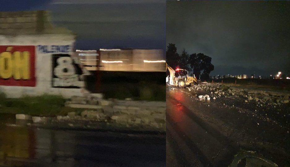 Tormentón en Puebla tira barda de 100 metros en Bosques de San Sebastián (FOTOS y VIDEO)