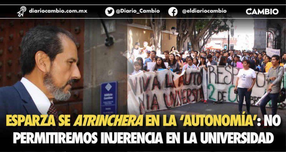 """Ve complot el rector: hay agente externo que quiere desestabilizar y se atrinchera en la """"autonomía"""" (VIDEO)"""