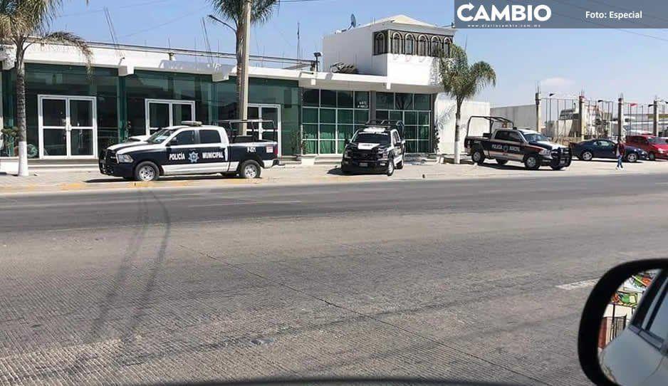 Edil de Amozoc utiliza policías para resguardar sus propiedades