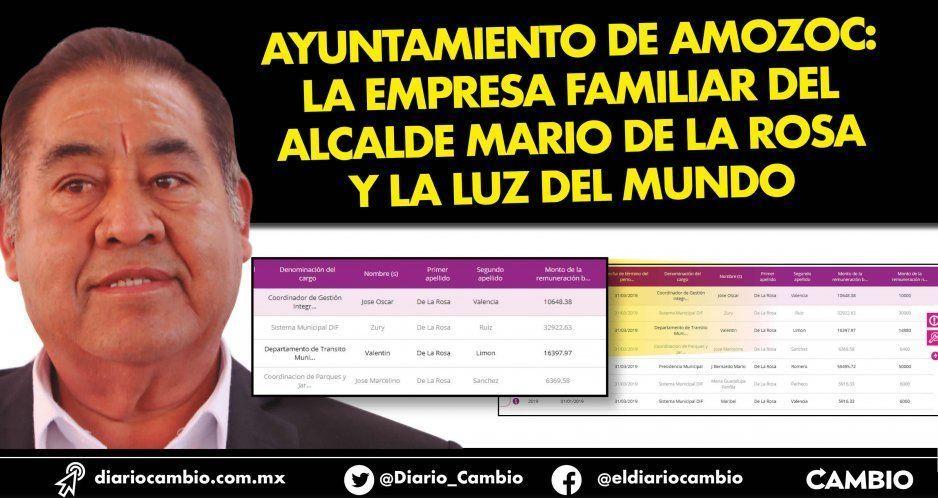 Ayuntamiento de Amozoc: la empresa familiar del alcalde Mario de la Rosa y la Luz del Mundo