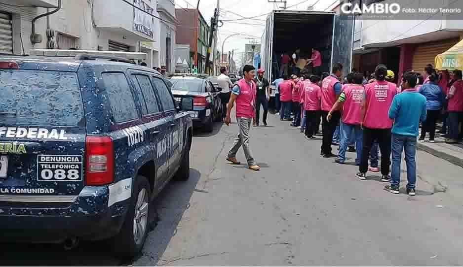 Llega paquetería electoral a Texmelucan resguardada por Policía Federal y Gendarmería