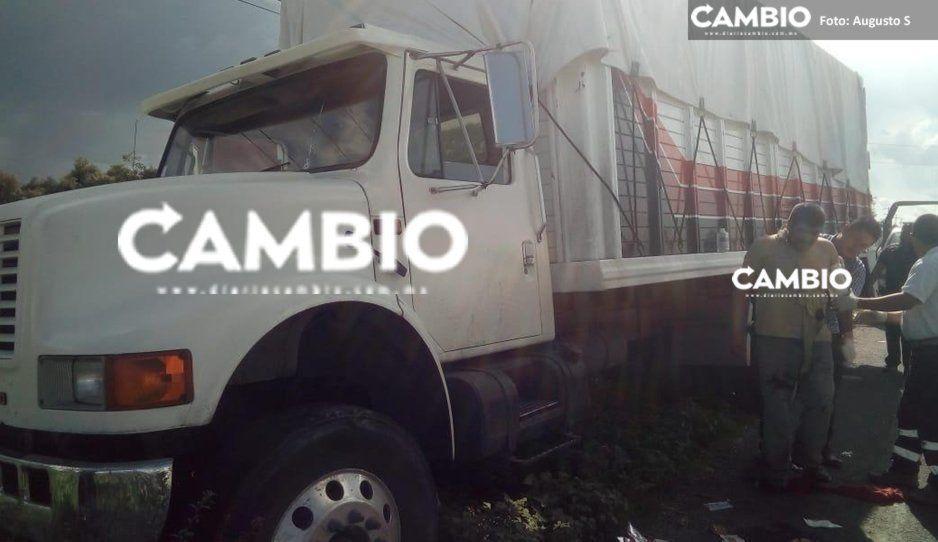 Otra de traileros: se salva de asalto en la Puebla-Tehuacán pero termina herido tras balazo (FOTO)