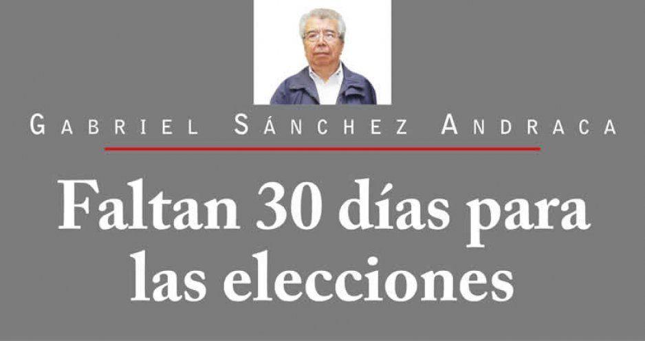 Faltan 30 días para las elecciones