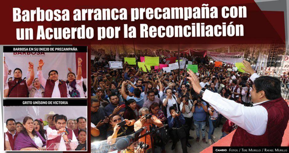 Barbosa arranca precampaña con un Acuerdo por la Reconciliación (FOTOS Y VIDEOS)