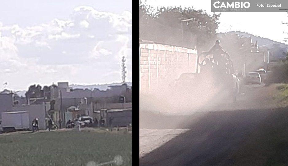 Se desata balacera en colonia El Arenal de Texmelucan; municipales y Guardia Nacional están en la zona