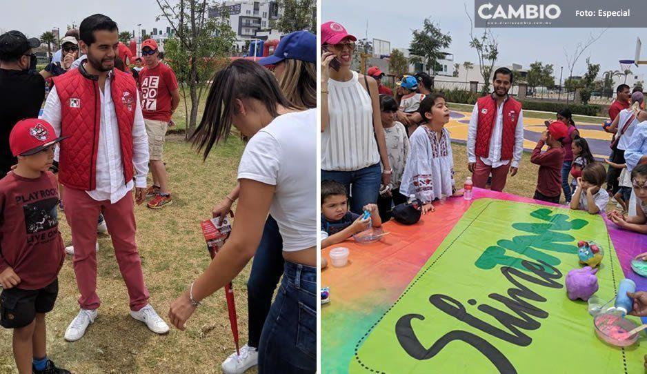 Marcos de los Santos celebra Día del Niño con vecinos de Ocoyucan
